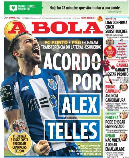 Mercato : accord PSG-Porto pour le transfert d'Alex Telles