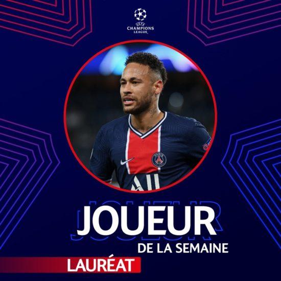 Neymar élu joueur de la semaine